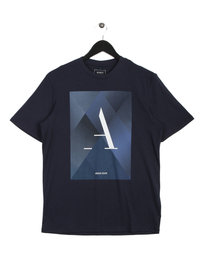 Armani Jeans Triangle T-Shirt Navy