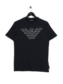 Emporio Armani Sketch Eagle T-Shirt Navy