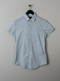 Armani Slim Fit Cotton Shirt Light Blue