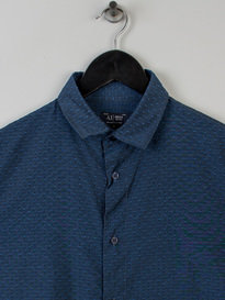 Armani Slim Fit Cotton Shirt  Navy