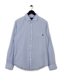 Armani Striped Long Sleeve Shirt Light Blue