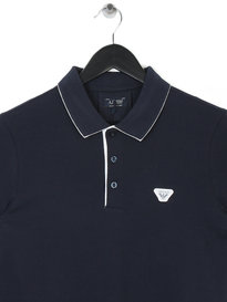 ARMANI UOMO WHITE TIP POLO BLUE