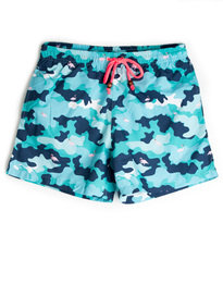 Balzac Camo Flamingo Shorts Blue
