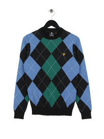 Lyle & Scott Argyle Jumper 572 Black