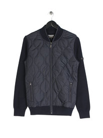 Barbour B.Intl Track Zip Through Knit Navy