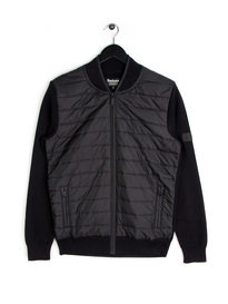 Barbour Baffle Zip Knit Black