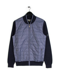 Barbour Baffle Zip Knitwear Navy