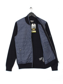 BARBOUR BAFFLE ZIP THROUGH JACKET NAVY