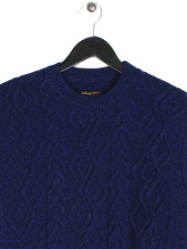 Barbour Barnard Crew Neck Knit Blue