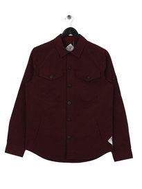 Barbour Beacon Askern Overshirt Merlot Red