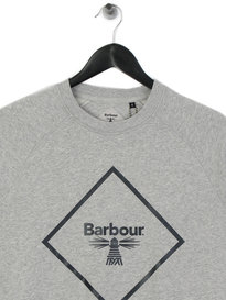 Barbour Beacon Large Logo Sweat Grey