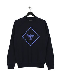 Barbour Beacon Large Logo Sweat Navy