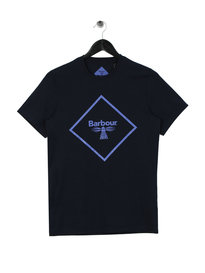 Barbour Beacon Large Logo T-Shirt Navy