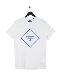 Barbour Beacon Large Logo T-Shirt White