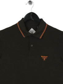 Barbour Beacon Tipped Polo Shirt Forest Green