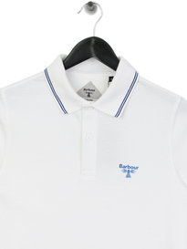 Barbour Beacon Tipped Polo Shirt White