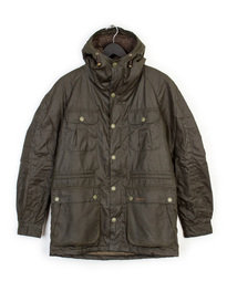 BARBOUR BRINDLE WAX JACKET OLIVE