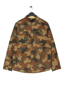 Barbour Camo Button Overshirt Olive