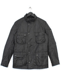 BARBOUR CRANK WAX JACKET BLACK