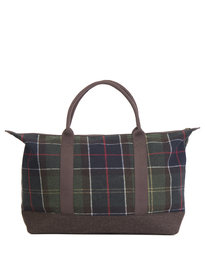Barbour Elgin Holdall Bag Brown Tartan