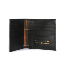 Barbour Grain Leather Billfold Wallet Black