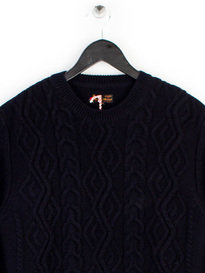 Barbour Heritage Barnard Crew Neck Navy