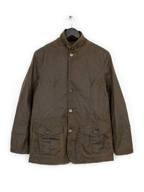 BARBOUR HERITAGE LUTZ WAX JACKET GREEN