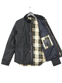 BARBOUR HERITAGE REELIN WAX JACKET BLACK