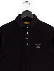 BARBOUR HERITAGE STANDARDS LONG SLEEVE POLO BLACK