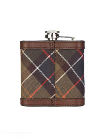 Barbour Hip Flask Tartan Brown