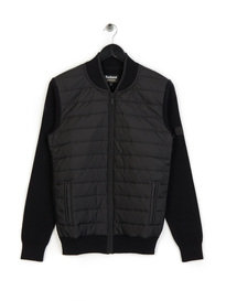 Barbour International Baffle Zip Through Black