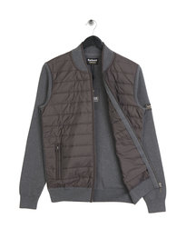 Barbour International Baffle Zip Through Grey