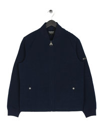 Barbour International Bolt Zip Through Navy