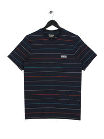 Barbour International Disc Stripe T-Shirt Navy