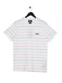 Barbour International Disc Stripe T-Shirt White