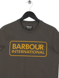 Barbour International Large Logo T-Shirt Olive Green