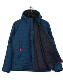 Barbour International Locking Hooded Jacket Petrol Blue