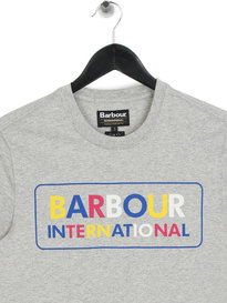 Barbour International Multi Colour Logo T-Shirt Grey