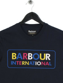 Barbour International Multi Colour Logo T-Shirt Navy