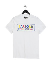Barbour International Multi Colour Logo T-Shirt White