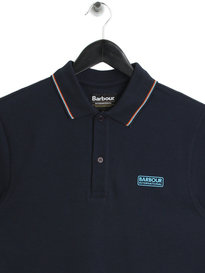 Barbour International Road Polo Navy