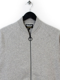 BARBOUR INTERNATIONAL SPORTS ZIP UP SWEAT TOP GREY