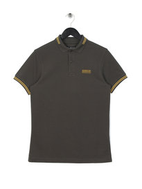 Barbour International Tipped Polo Shirt Olive Green