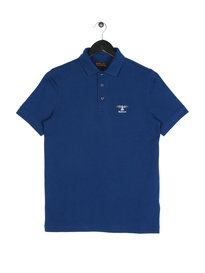Barbour Joshua Polo Short Sleeve Blue