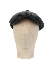 Barbour Mixed Tweed Bakerboy Cap Grey