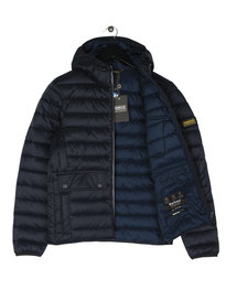 Barbour Ouston Hooded Quilted Jacket Navy