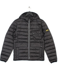 Barbour Ouston Hooded Quilt Jacket Black