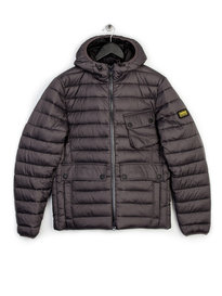 Barbour Ouston Hooded Quilt Jacket Grey