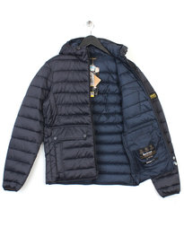 Barbour Ouston Hooded Quilt Jacket Navy