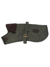 Barbour Quilted Dog Coat Olive Green